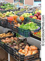 mercado, granjeros