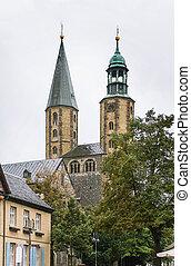 mercado, iglesia, s., cosmas, y, damian, goslar, alemania
