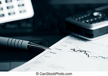 mercado, informes, acción