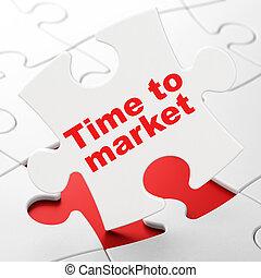 mercado, quebra-cabeça, fundo, concept:, tempo