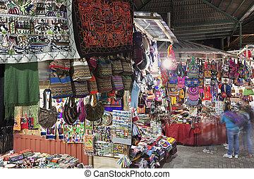 mercado, recuerdo, calientes, aguas