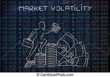 mercado, volatility:, rendimiento, resultados, con, comerciante, montañismo, ganancias