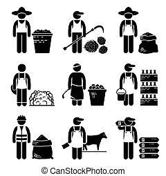 mercadorias, alimento, grão, agrícola