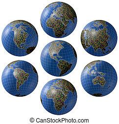 mercados mundiales, collage