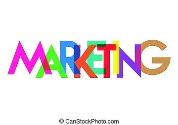 mercadotecnia, carta, colorido, transparant