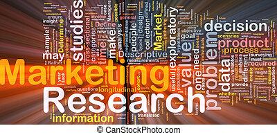 mercadotecnia, encendido, concepto, plano de fondo, investigación