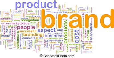mercadotecnia, marca, concepto, plano de fondo