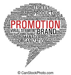 mercadotecnia, promoción, burbuja del discurso