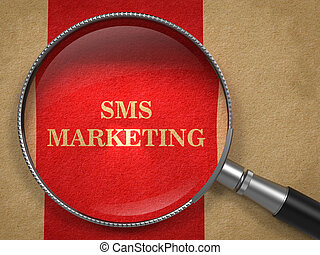 mercadotecnia, sms, aumentar, por, vidrio.