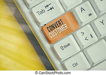 mercadotecnia, táctica, plomos, vuelta, converso, escritura, buyer., customer., escritura, significado, estrategia, texto, concepto