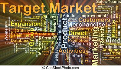 mercato, Ardendo, concetto, bersaglio, fondo
