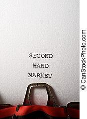 mercato, seconda mano, testo