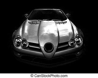 Mercedes SLR McLaren - Agressive monochrome picture of Merc