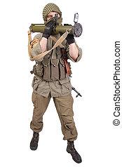mercenary with anti-tank rocket launcher - RPG 26