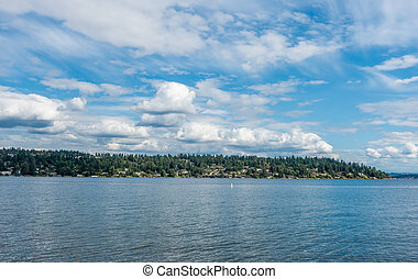 Mercer Island With Clouds 3