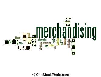 Merchandising word cloud