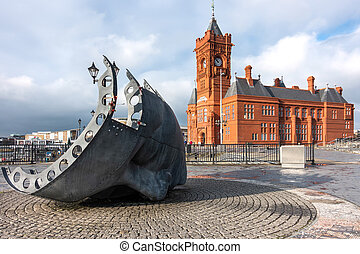 Merchant Seafarers' War Memorial in Cardiff Bay