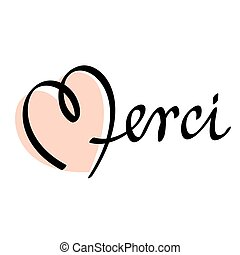 merci hand lettering
