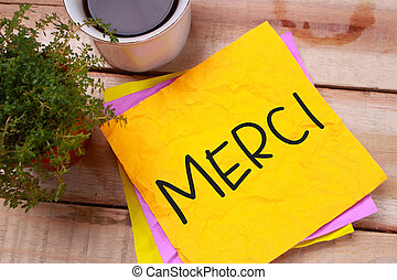 Merci, Motivational Words Quotes Concept