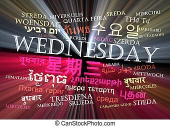 mercoledì, multilanguage, wordcloud, fondo, concetto,...