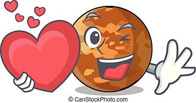 mercurio, forma cuore, plenet, carattere