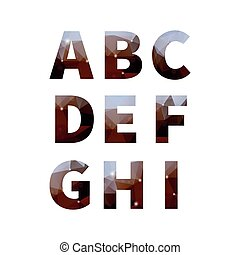 Mercury alphabet part 1 - Polygonal space alphabet...