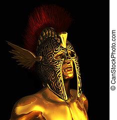 Mercury Messenger of the Gods - A portrait of Mercury, the...