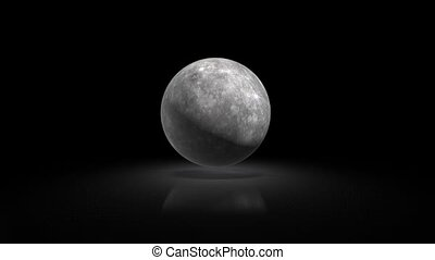 Mercury planet of the solar system against the background of...