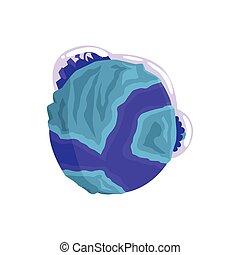 Mercury planet of the Solar System cartoon vector Illustration