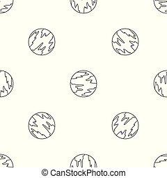 Mercury planet pattern seamless vector