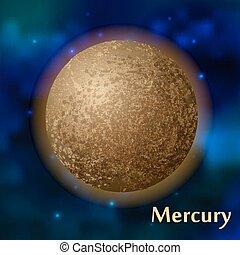 Mercury planet vector illustration