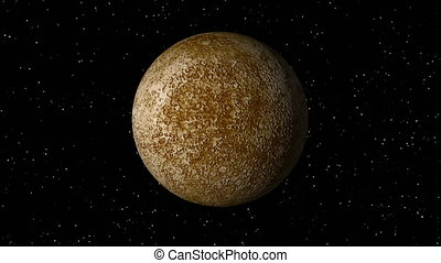 Mercury Rotating Seamless Loop - 3D animation of planet...