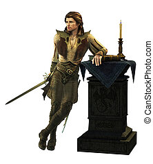 Mercutio CA - fantasy portrait of a young man of the...