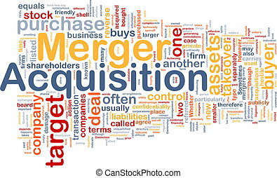 Merger acquisition background concept - Background concept...