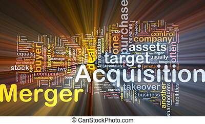 Merger acquisition background concept glowing - Background...