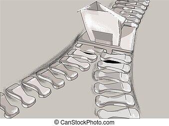 merger. Zip fastener as bussines symbol