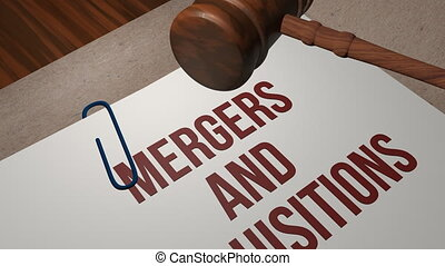 Mergers and Acquisitions legal concept shot clip