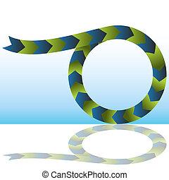 An image of a merging process arrow chart.