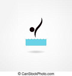 mergulhador, ícone