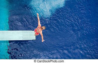mergulhador, alto