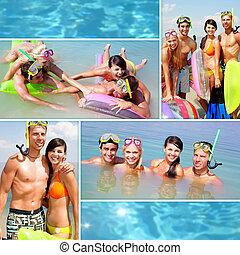 mergulhadores, férias