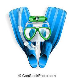 mergulhando equipamento