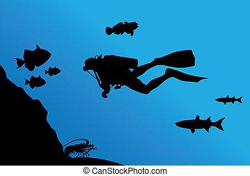mergulhar
