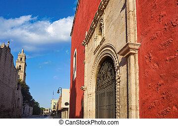 Merida city Rosario Chapel of Yucatan Mexico