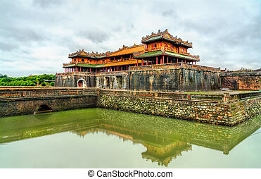 Meridian Gate to the Imperial City in Hue, Vietnam