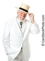 meridional, hombre mayor, -, caballerosidad