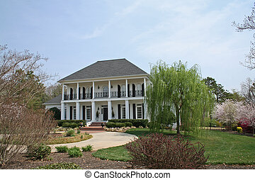 meridionale, stile, casa