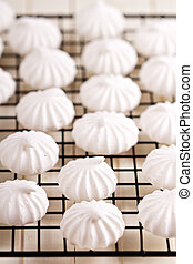 Meringues on a cooling rack