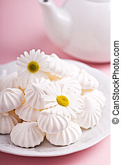 Meringues on a plate