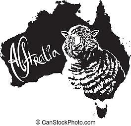Merino ewe as Australian symbol